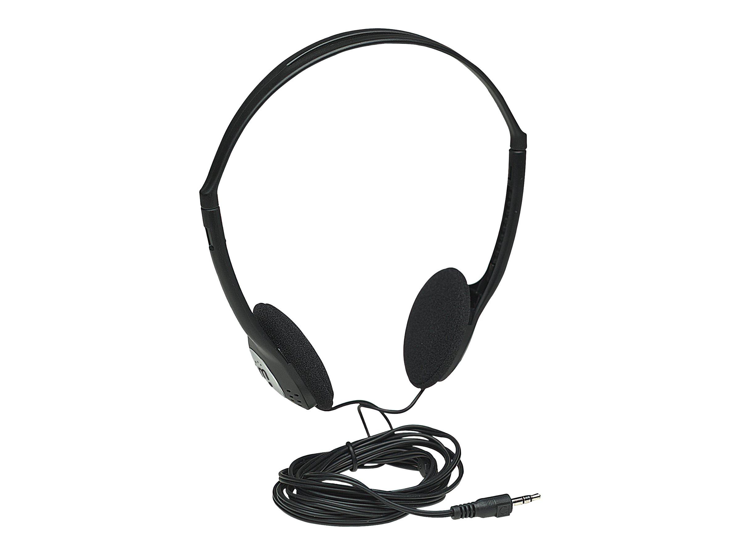 Manhattan Stereokopfhörer, Sehr leicht, verstellbarer Kopfbügel, gepolsterte Ohrmuscheln