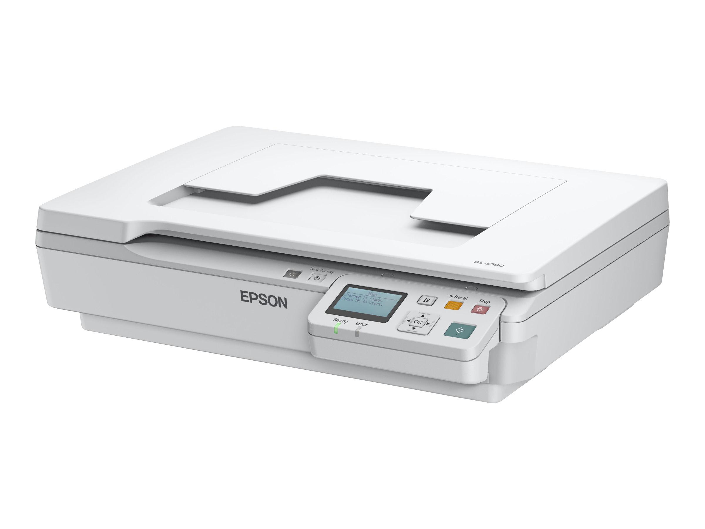 Epson WorkForce DS-5500N - Flachbettscanner - A4