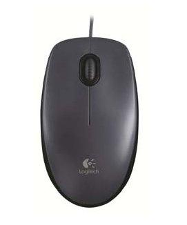 Logitech Mouse M90 USB Optisch 1000DPI Schwarz Maus