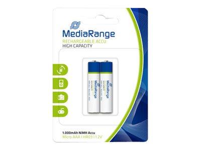 MEDIARANGE MRBAT122 - Batterie 2 x AAA-Typ - NiMH - (wiederaufladbar)