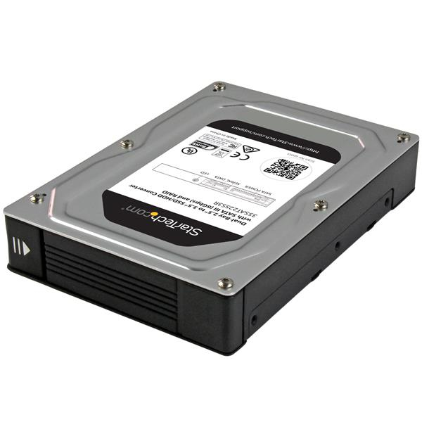 StarTech.com Dual-Bay 2.5 to 3.5in Adapter Enclosure with SATA III and RAID - Festplatten-Array - 2 Schächte (SATA)
