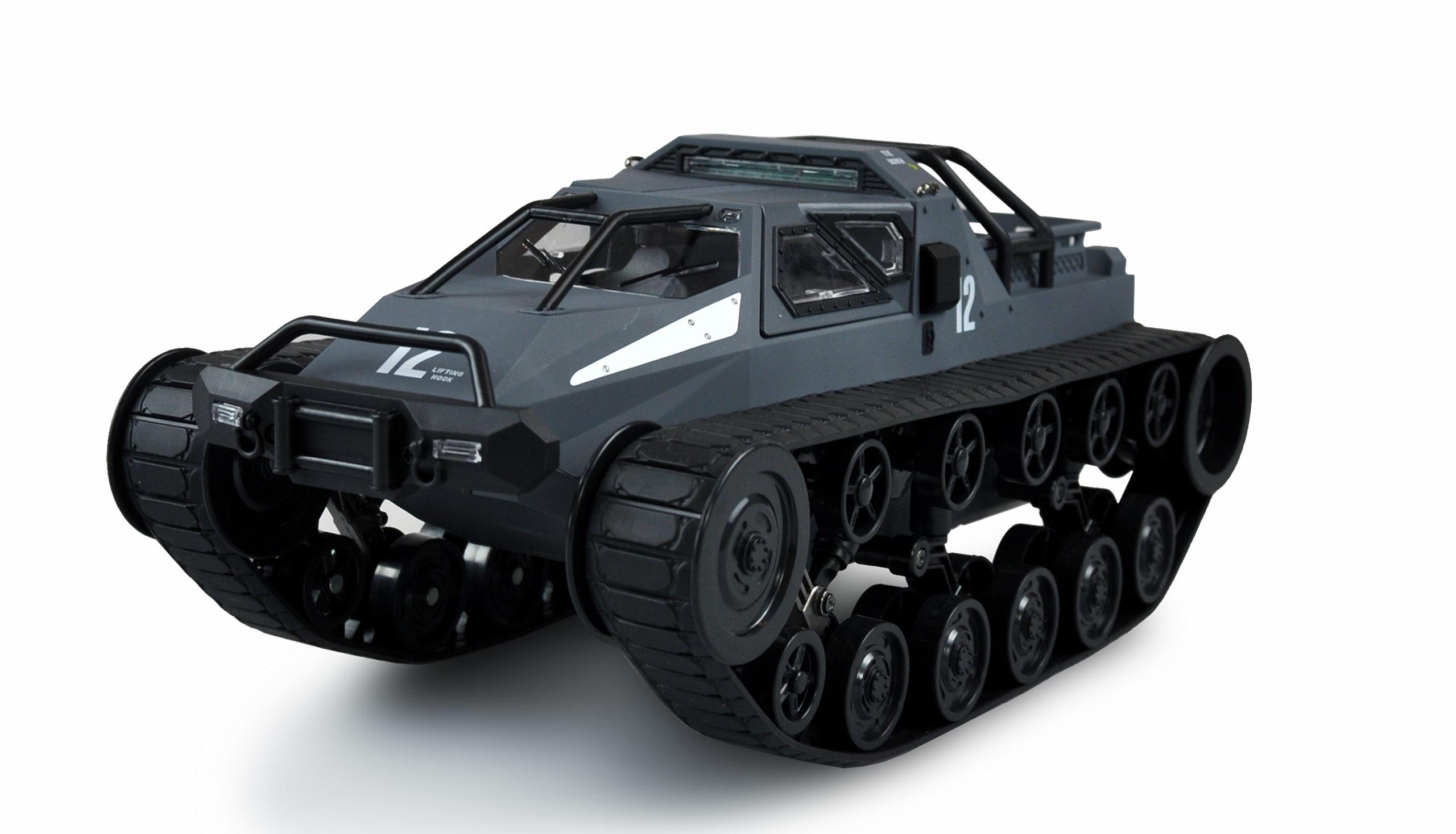 Vorschau: Amewi Military Police Kettenfahrzeug Grau - Elektromotor - 1:12 - Betriebsbereit (RTR) - Blau - Grau - Junge/Mädchen - 14 Jahr(e)