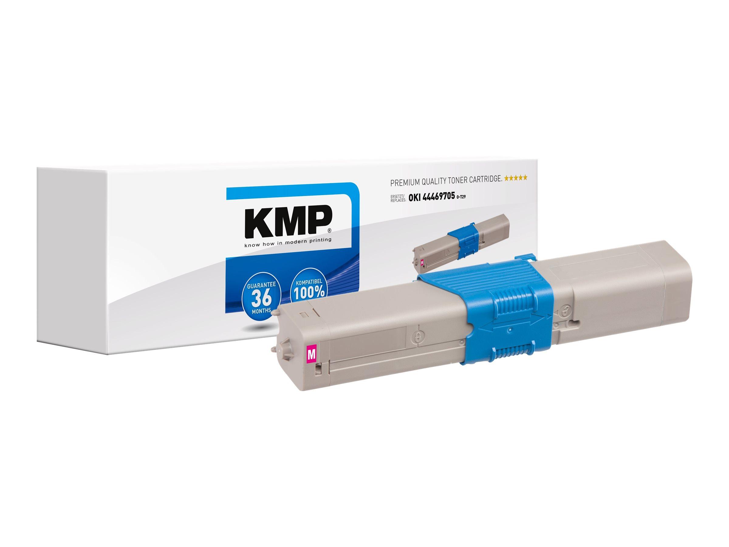 Vorschau: KMP O-T29 - 50 g - Magenta - compatible - Tonerpatrone