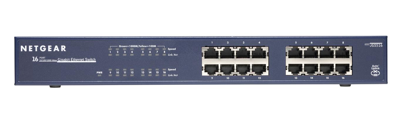 Netgear JGS516 Unmanaged network switch Blau