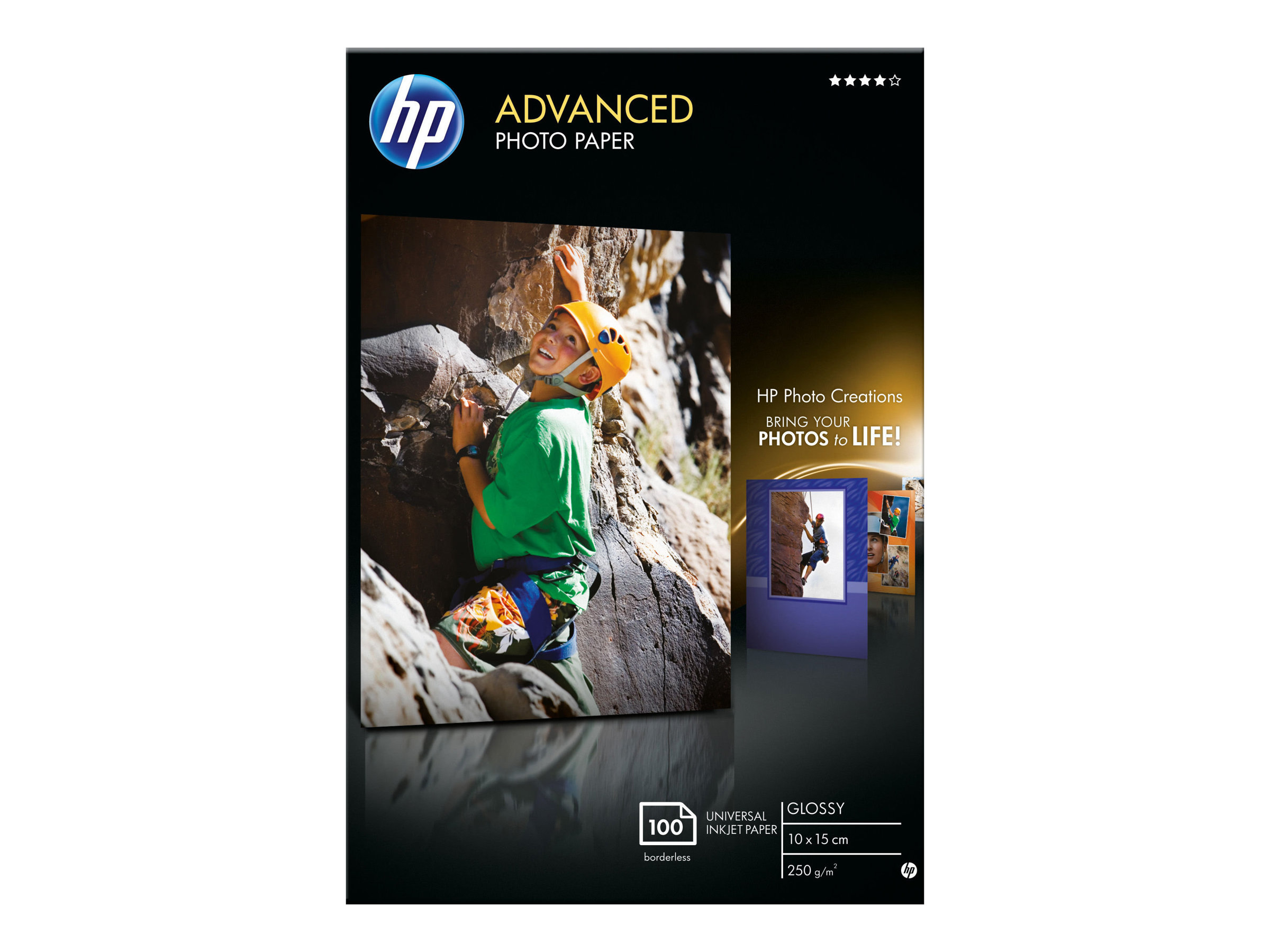HP Advanced Glossy Photo Paper - Glänzend - 100 x 150 mm