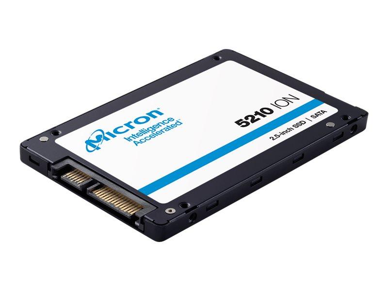 """Micron 5210 ION - Solid-State-Disk - verschlüsselt - 7.68 TB - intern - 2.5"""" (6.4 cm)"""