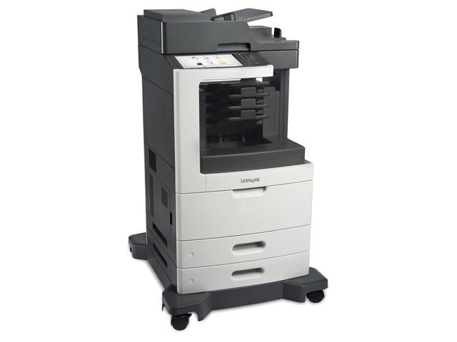Lexmark MX812dme 1200 x 1200DPI Laser A4 66Seiten pro Minute Schwarz - Grau Multifunktionsgerät