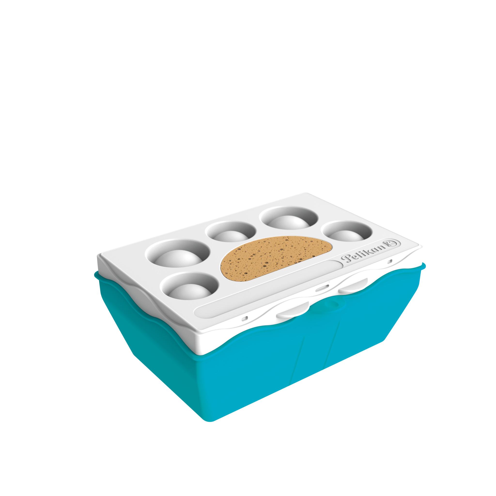 Pelikan Kreativfabrik Malzubehörset klein S - Junge/Mädchen - Deutschland - Wasserbox mit Mischpalette und Schwamm und wasserfestem Stickerbogen