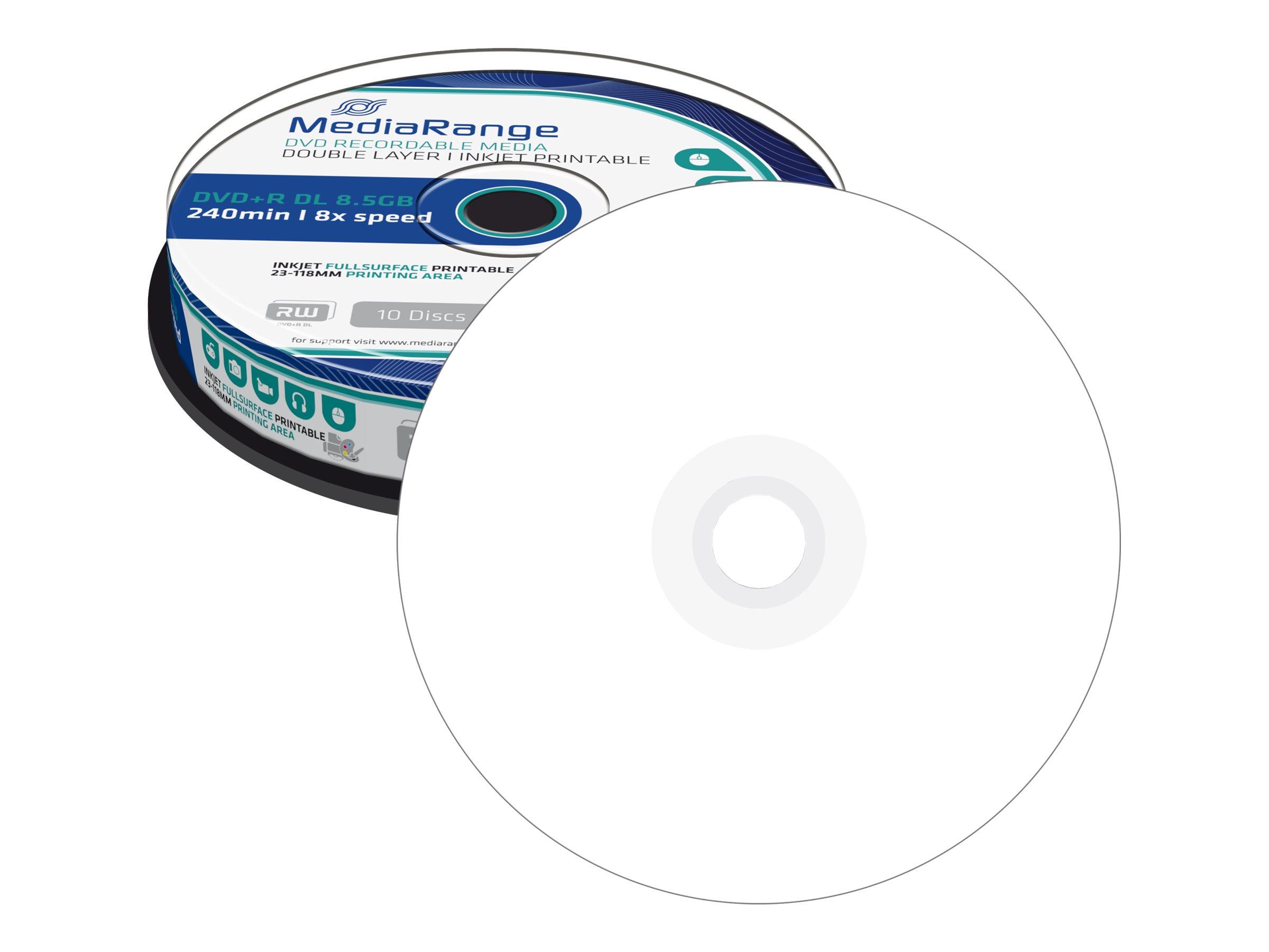 MEDIARANGE 10 x DVD+R DL - 8.5 GB (240 Min.) 8x