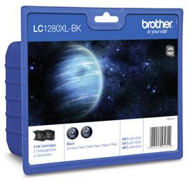 Brother LC-1280XLBKBP2DR Schwarz Tintenpatrone