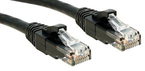 Lindy Cat.6 UTP Premium Patchkabel halogenfrei schwarz - Kabel