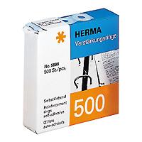 HERMA Reinforcement rings self-adhesive ø 12 transparent 500 pcs. - 500 Stück(e)