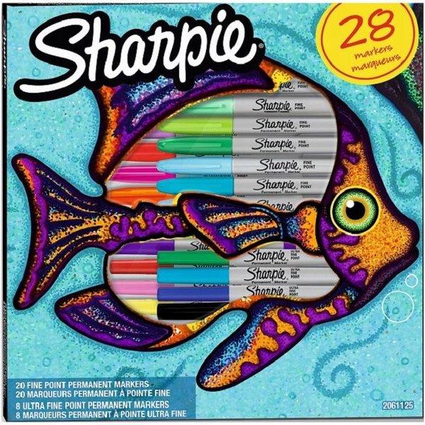 Sharpie 2061125 - 28 Stück(e) - Mehrfarben - Feine Spitze - Grau - Mehrfarben - Rund - Fein / Ultrafein