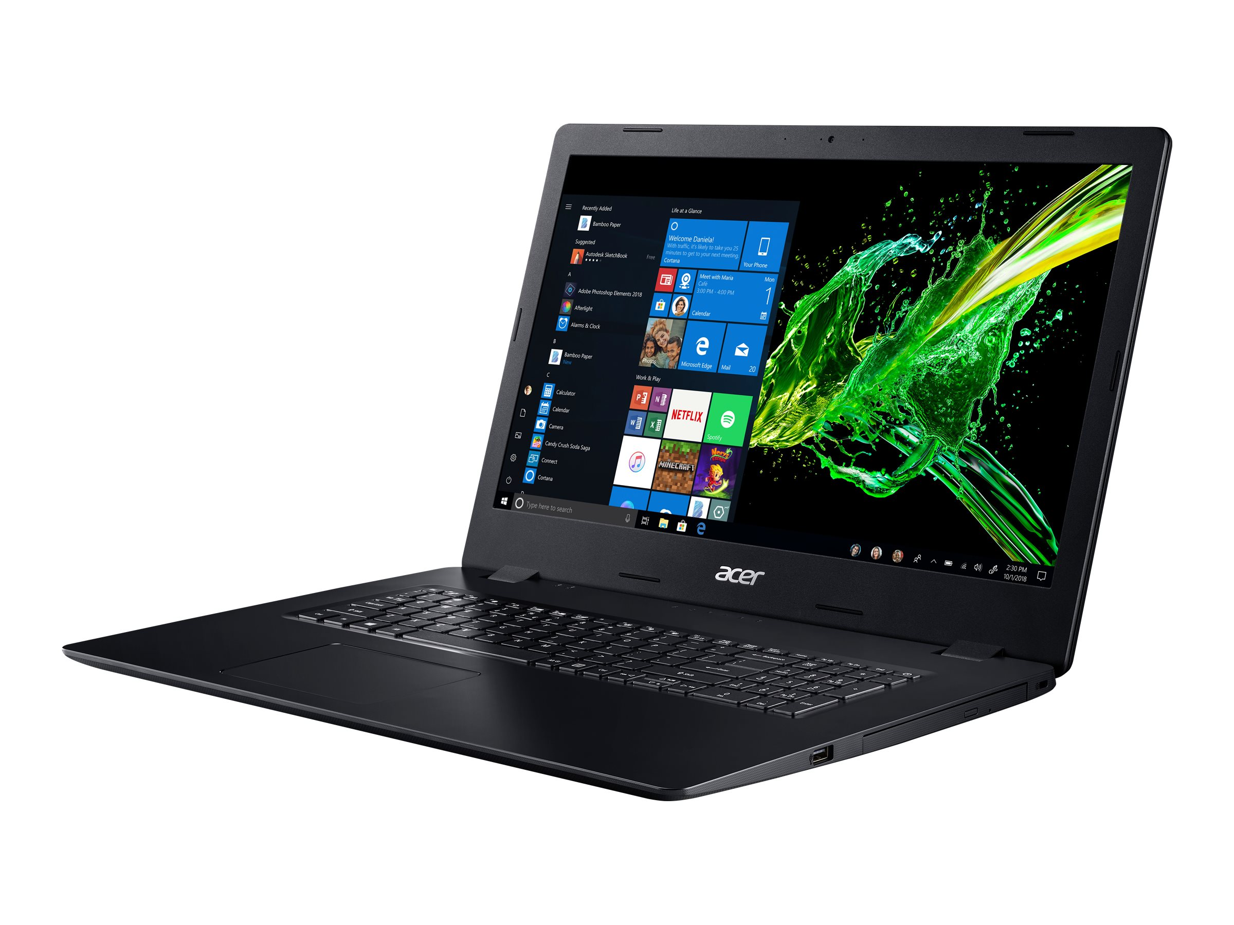 "Acer Aspire 3 A317-51G-577H - Core i5 10210U / 1.6 GHz - ESHELL - 8 GB RAM - 512 GB SSD - DVD-Writer - 43.94 cm (17.3"")"