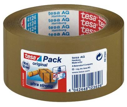 Tesa Ultra Strong - Braun - Bündelung - Verpackung - Versiegelung - PVC - 66 m - 50 mm