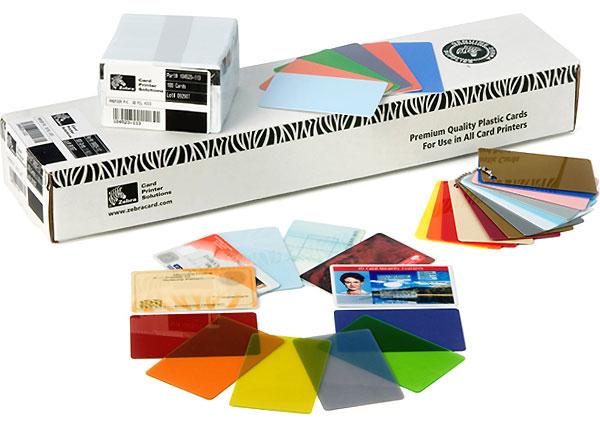 Zebra Color - Polyvinylchlorid (PVC) - 30 mil - grün - CR-80 Card (85.6 x 54 mm)