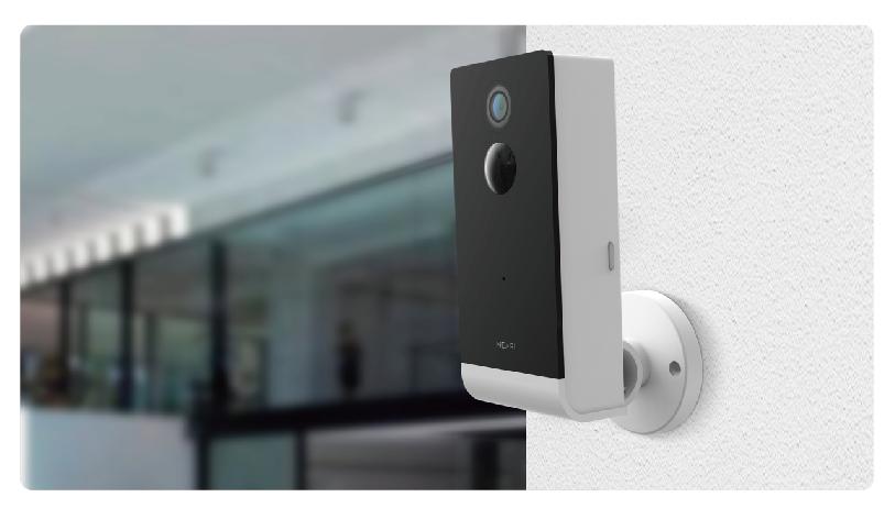 Woox R4057 - IP-Sicherheitskamera - Outdoor - Verkabelt & Kabellos - Cube - Wand - Schwarz - Weiß