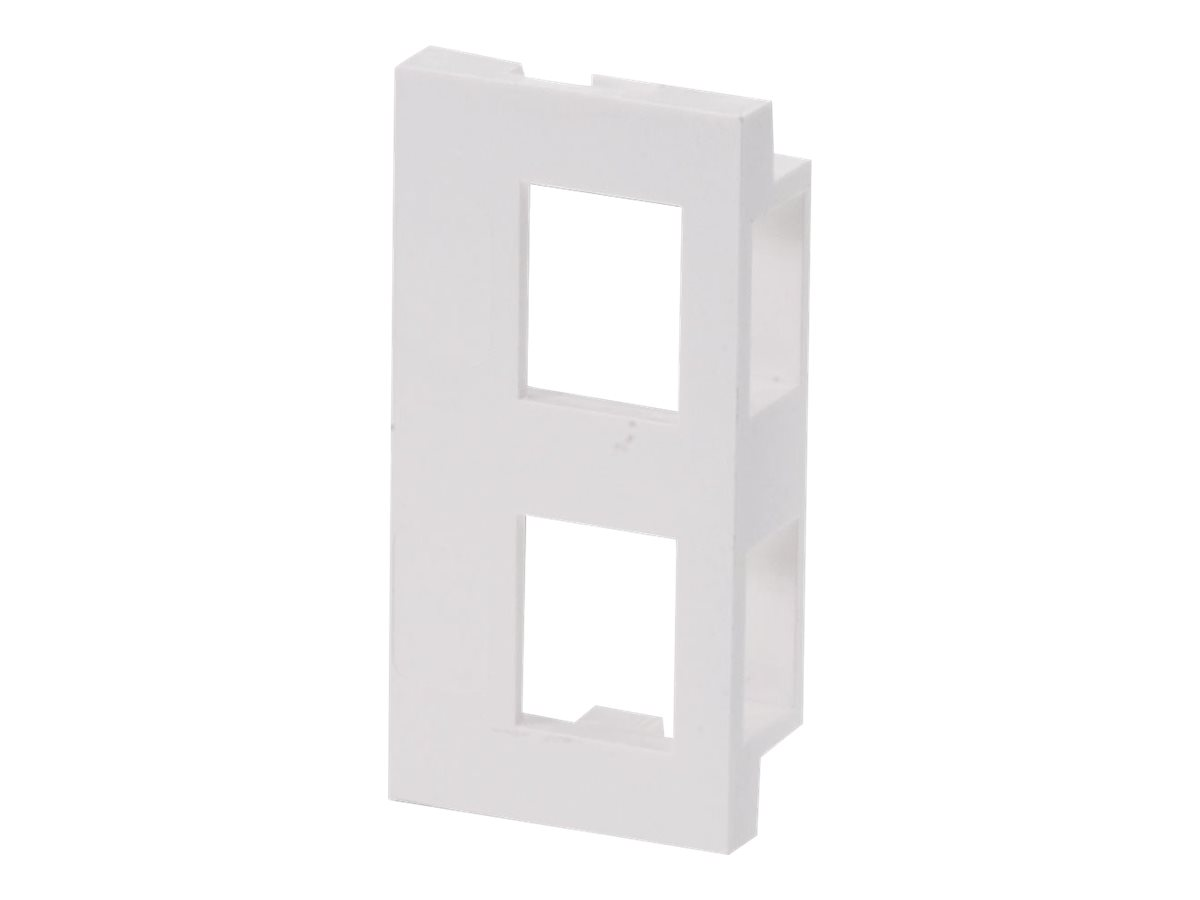 Lindy Modular AV Face Plate System Dual Snap-in Block - Modulares Faceplate-Snap-In - 2 Ports (Packung mit 4)