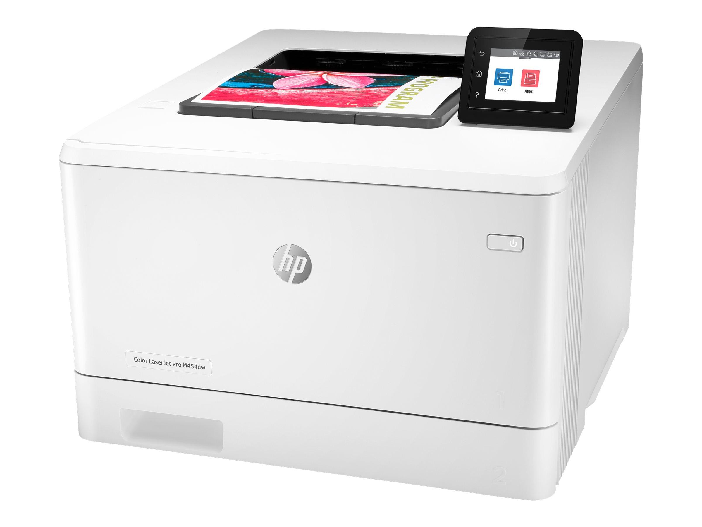 HP Color LaserJet Pro M454dw - Drucker - Farbe - Duplex - Laser - A4/Legal - 38.400 x 600 dpi - bis zu 27 Seiten/Min. (einfarbig)/