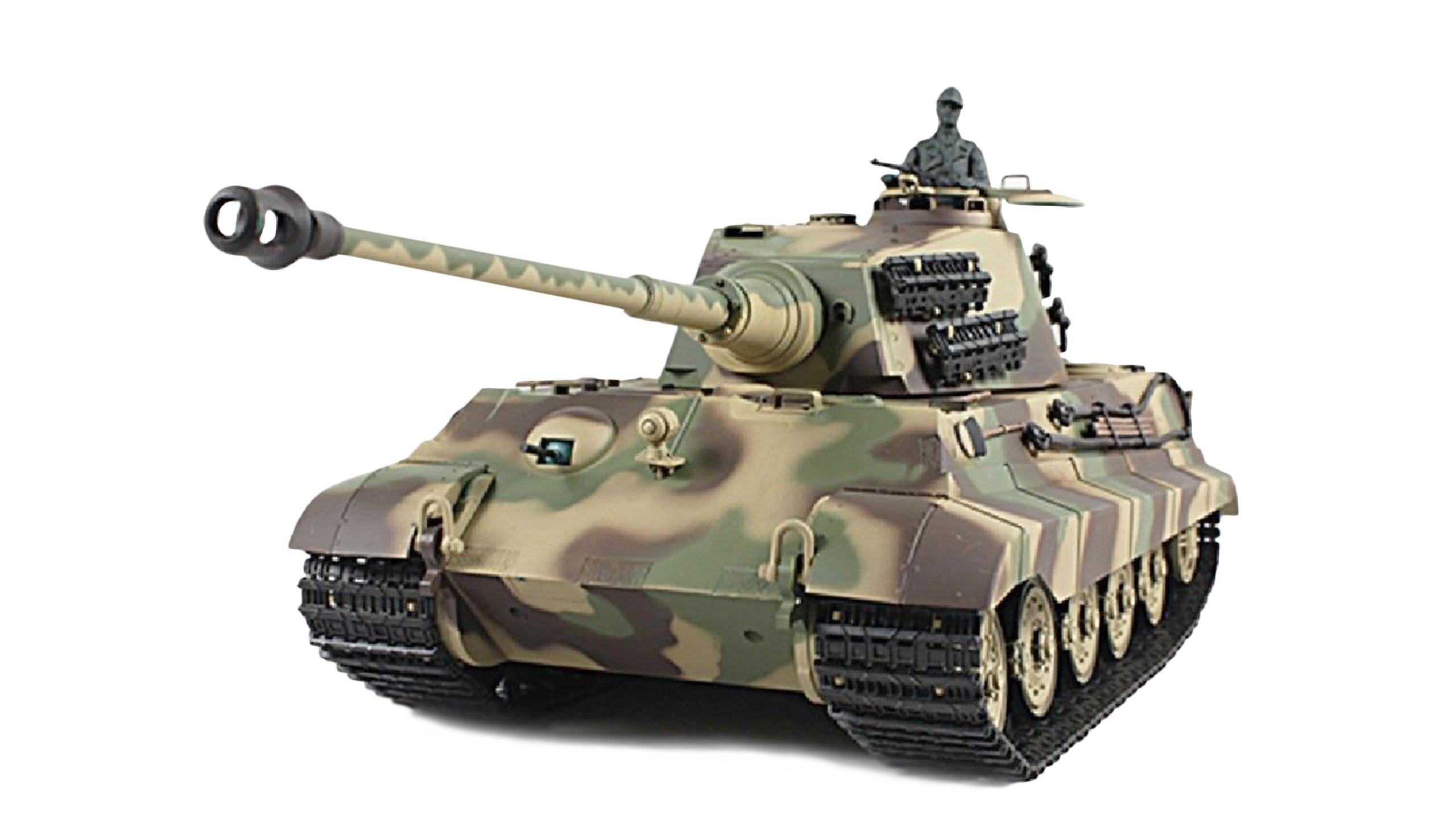 Amewi 23072 - Funkgesteuerter (RC) Panzer - Elektromotor - 1:16 - Betriebsbereit (RTR) - Camouflage - 2,4 GHz