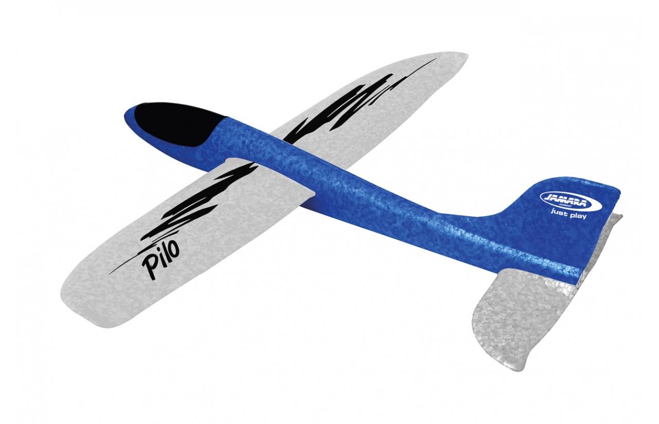JAMARA Pilo SchaumwurfgleiterEPP - Funkgesteuerter (RC) Gleitschirm - Almost-Ready-to-Fly (ARTF) - Blau - Weiß - 5 Jahr(e) - Schaum - 48 cm