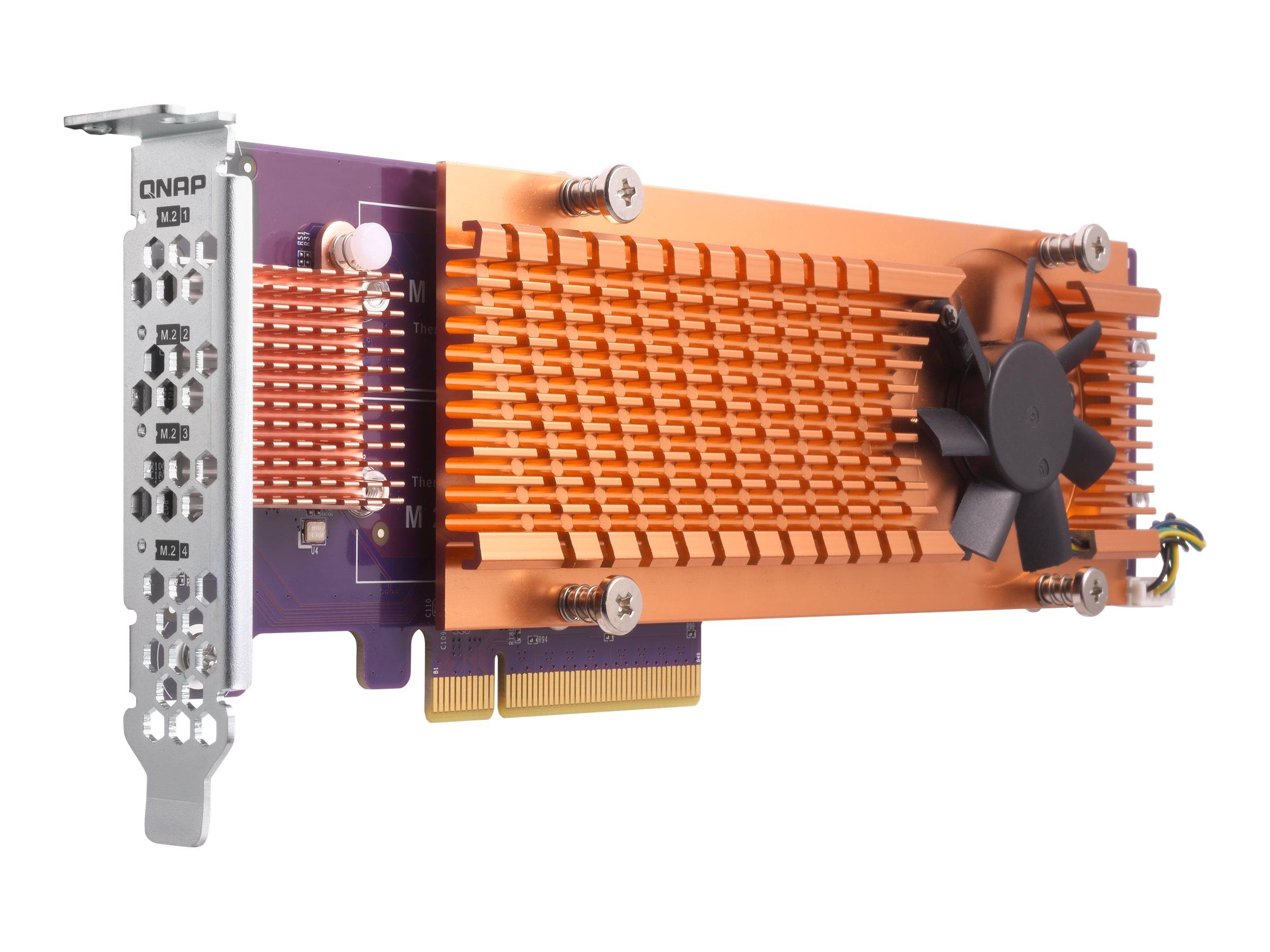 QNAP QM2-4P-384 - Speicher-Controller - PCIe 3.0 Low-Profile