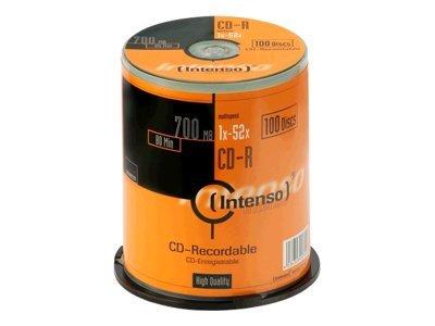 Intenso 100 x CD-R - 700 MB (80 Min) 52x