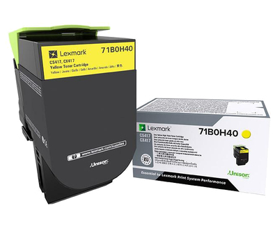 Lexmark 71B0H40 Lasertoner Gelb Lasertoner / Patrone