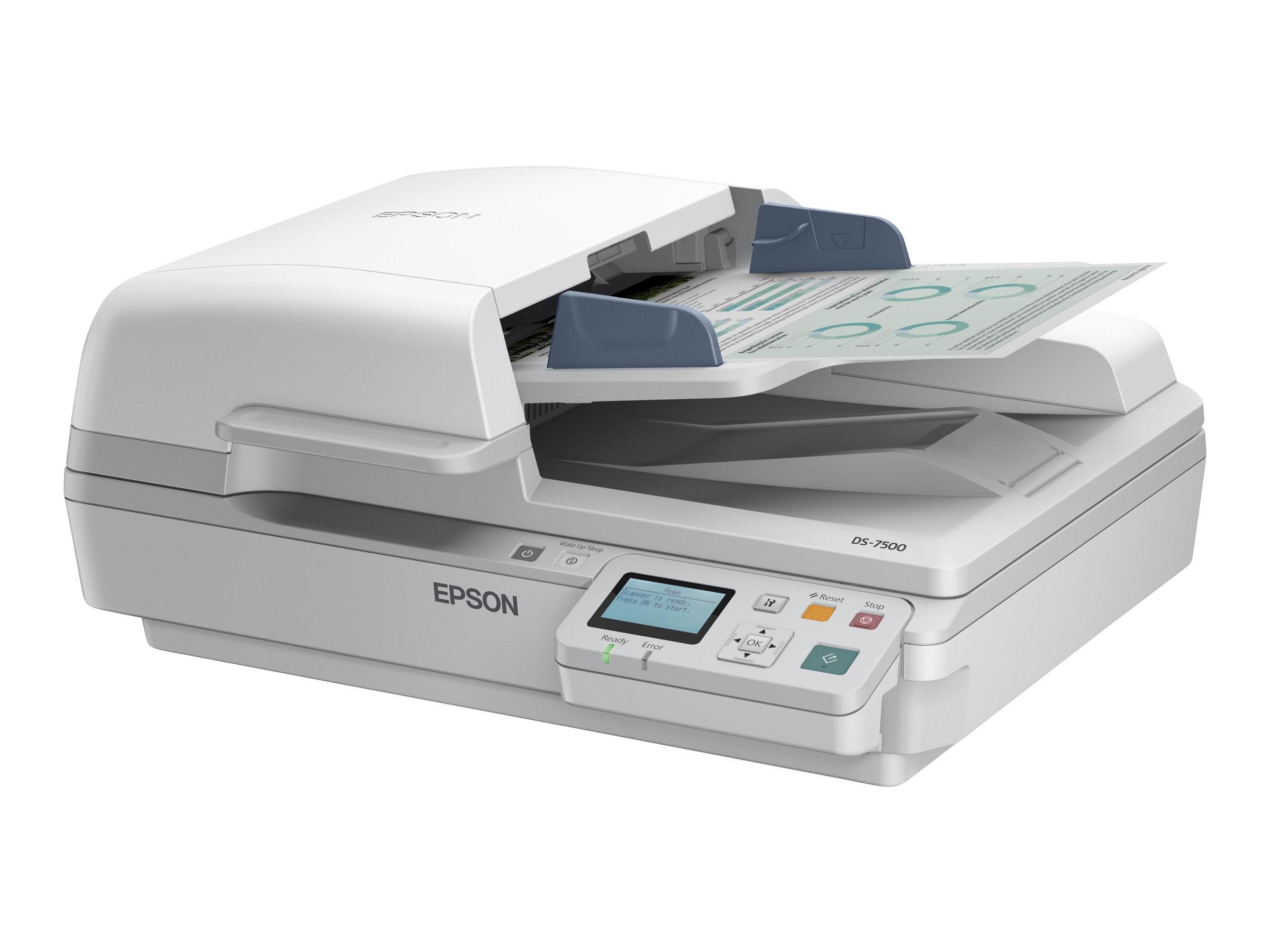 Epson WorkForce DS-6500N - Dokumentenscanner - Duplex - A4 - 1200 dpi x 1200 dpi - bis zu 25 Seiten/Min. (einfarbig)