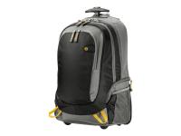 15.6 Rolling Backpack 15.6Zoll Rucksack Schwarz - Grau - Gelb