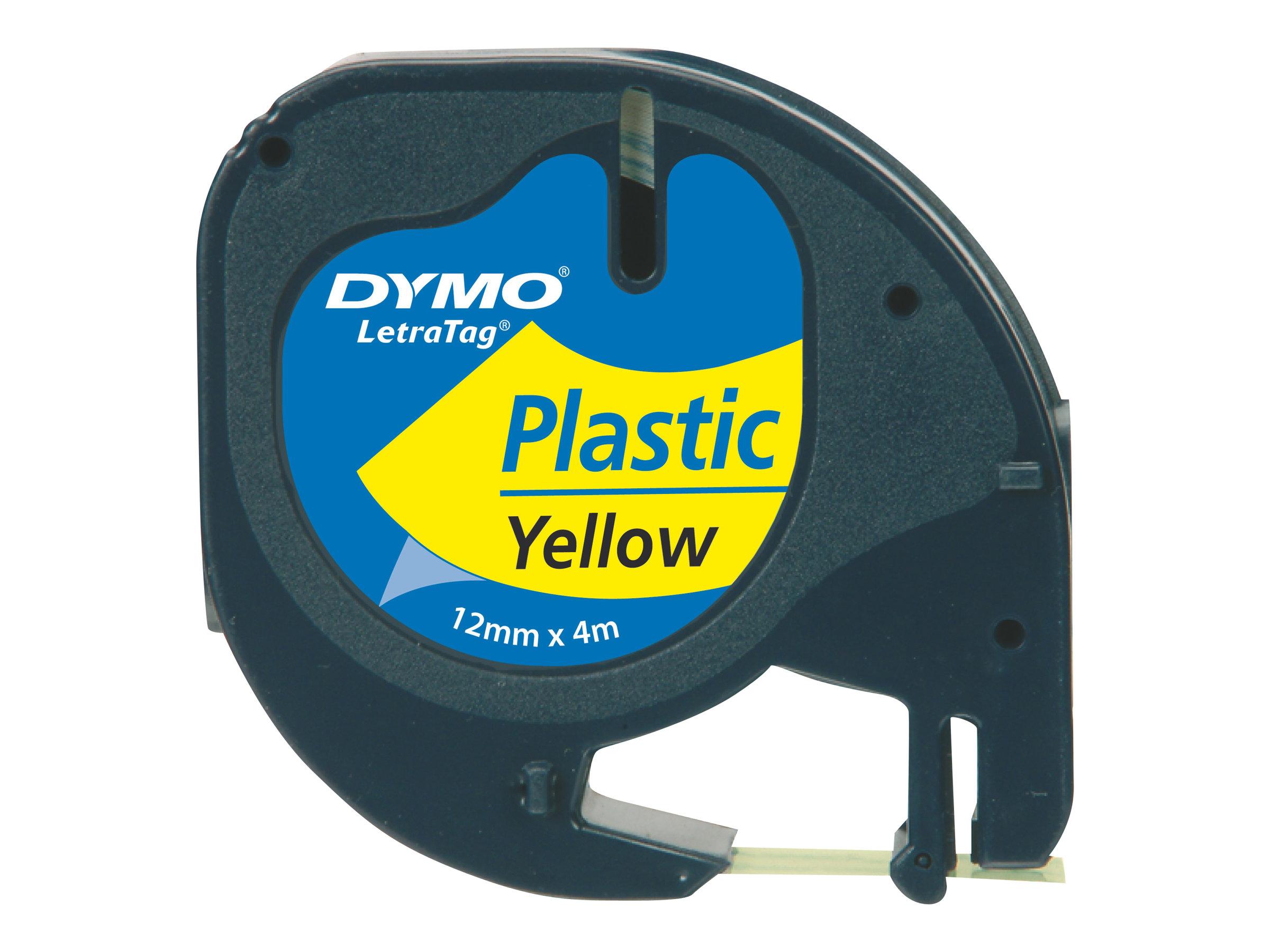 Dymo LetraTAG - Kunststoff - Gelb - Rolle (1,2 cm x 4 m)