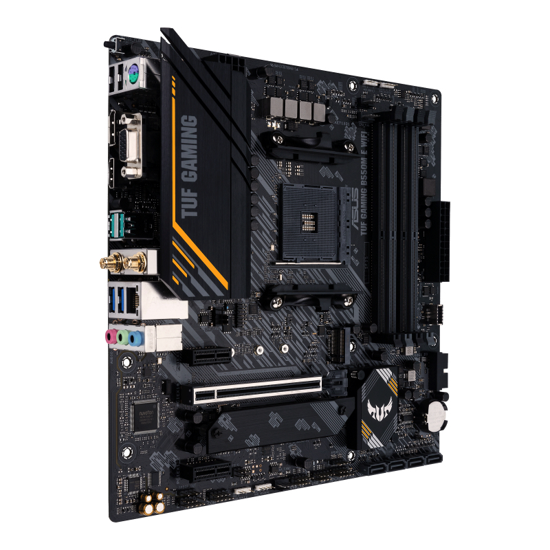 ASUS TUF GAMING B550M-E WIFI - Motherboard - micro ATX - Socket AM4 - AMD B550 - USB-C Gen1, USB 3.2 Gen 1, USB 3.2 Gen 2 - Gigabit LAN, Wi-Fi, Bluetooth - Onboard-Grafik (CPU erforderlich)