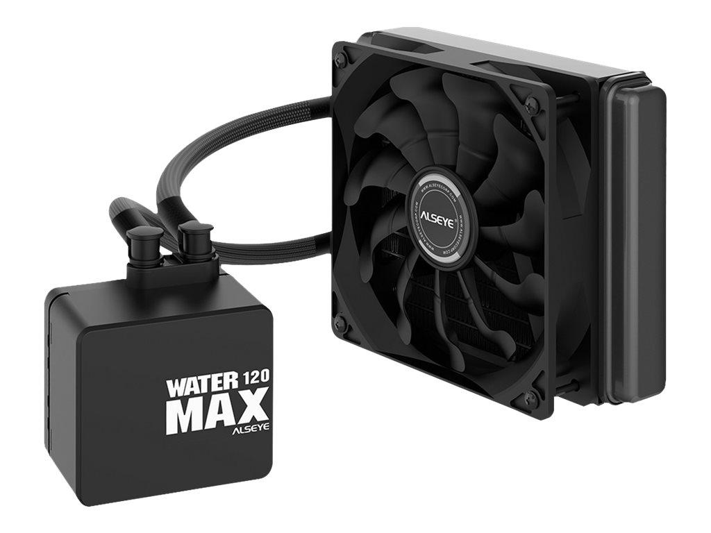 Vorschau: Inter-Tech ALSEYE Max 120 - Prozessor-Flüssigkeitskühlsystem - (für: LGA775, LGA1156, AM2, AM2+, LGA1366, AM3, LGA1155, AM3+, LGA2011, FM1, FM2, LGA1150, LGA1151, AM4, LGA2066 (Square ILM)