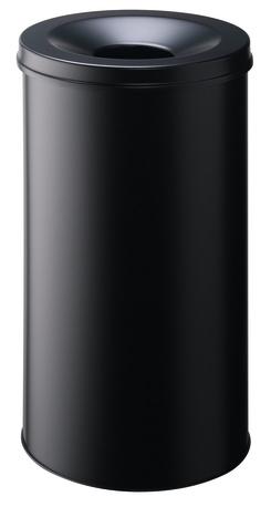 Durable 3307-01 - 60 l - Rund - Stahl - Schwarz - Aluminium - 37,5 cm