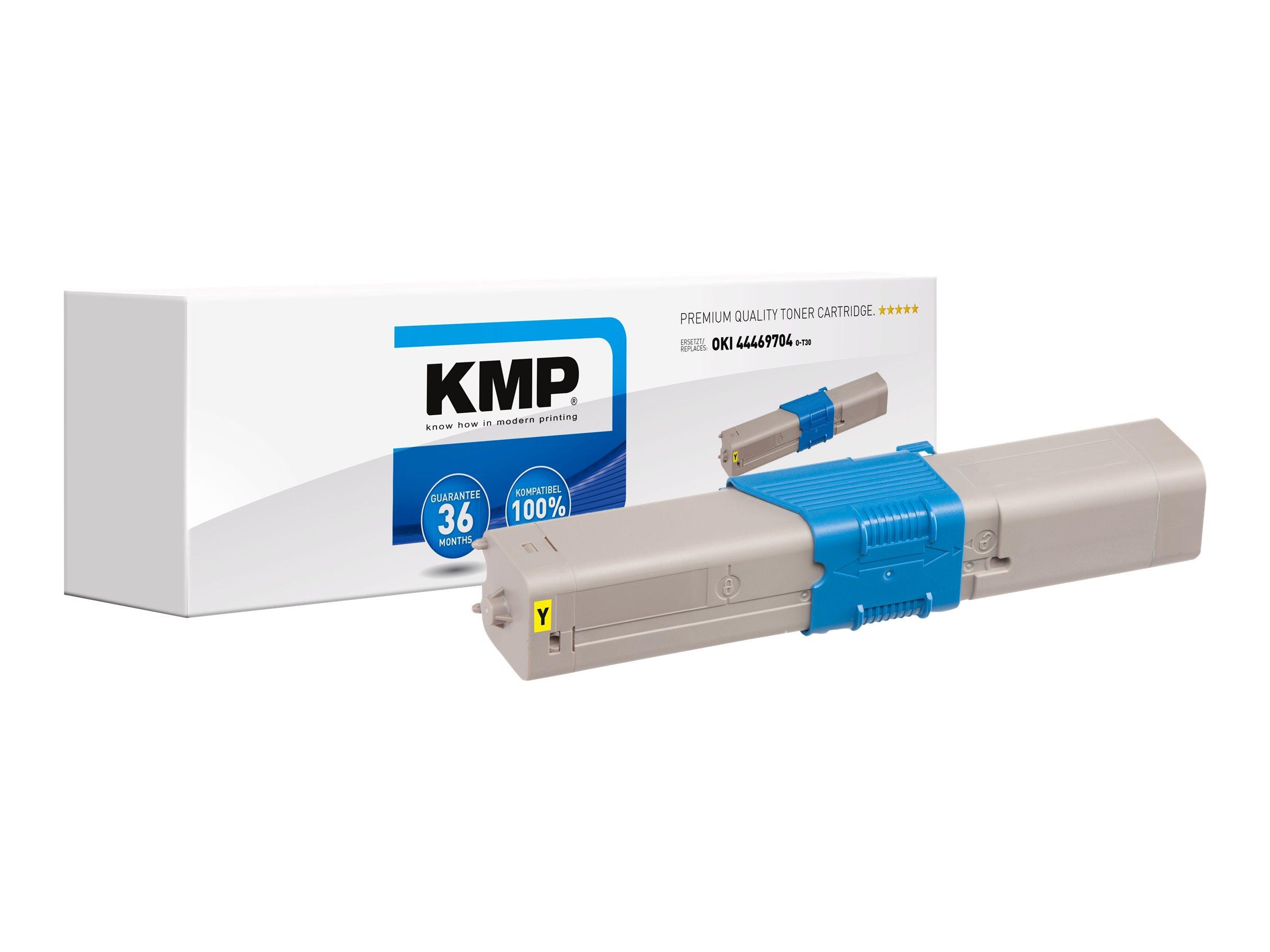 Vorschau: KMP O-T30 - 50 g - Gelb - compatible - Tonerpatrone