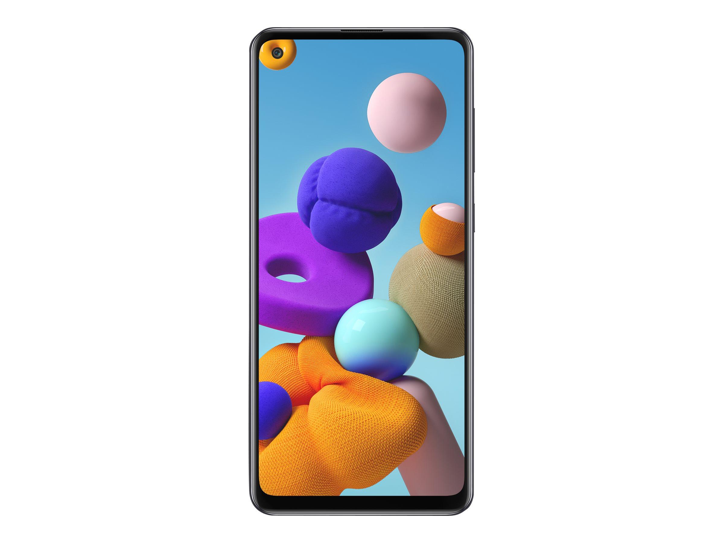 """Samsung Galaxy A21s - Smartphone - Dual-SIM - 4G LTE - 32 GB - microSD slot - 6.5"""" - 1600 x 720 Pixel - PLS TFT - RAM 3 GB (13 MP Vorderkamera)"""