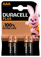Duracell Alkaline Plus AAA batterij 4 pack - Batterie