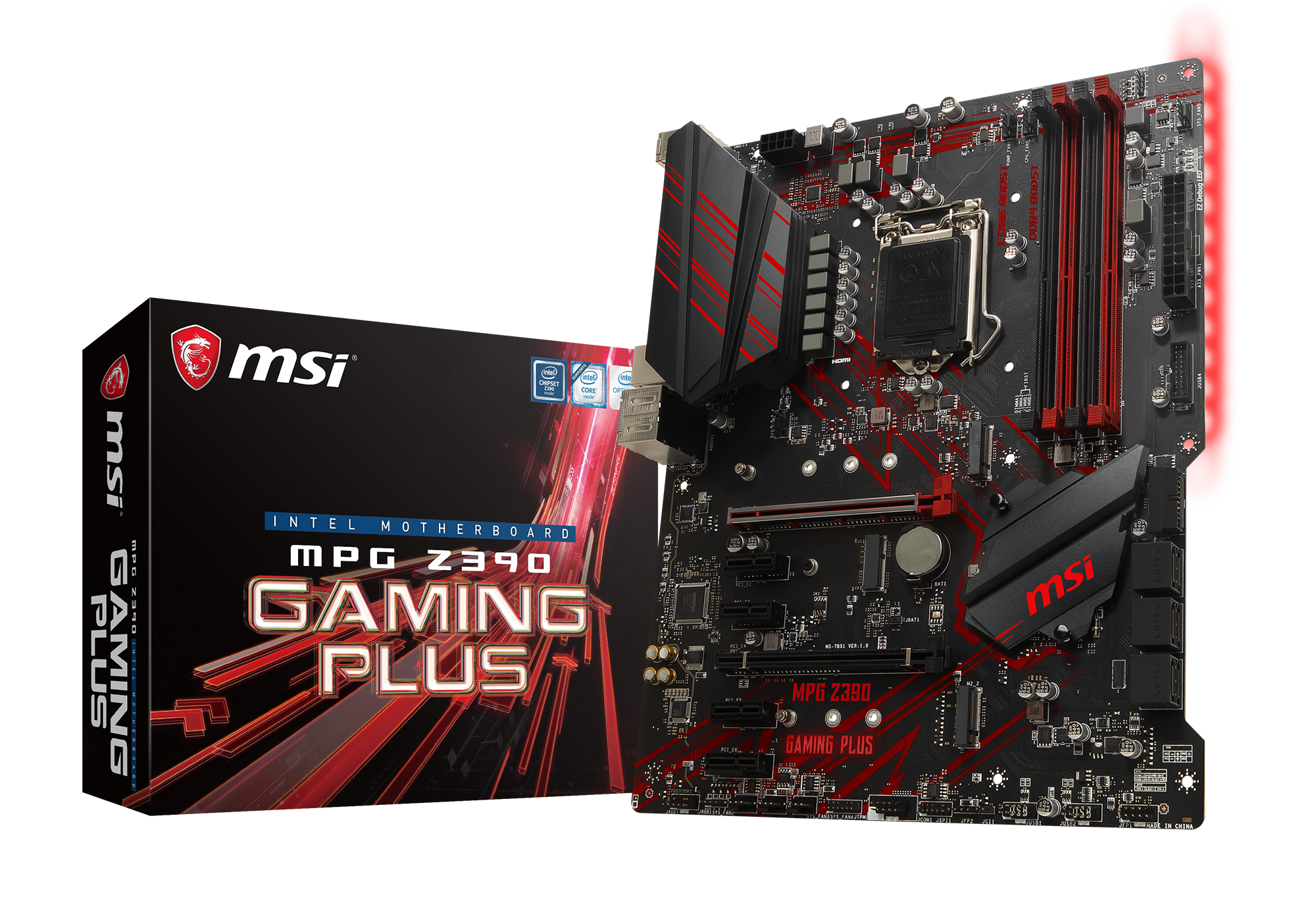 MSI MPG Z390 GAMING PLUS ATX LGA1151  Intel Z390