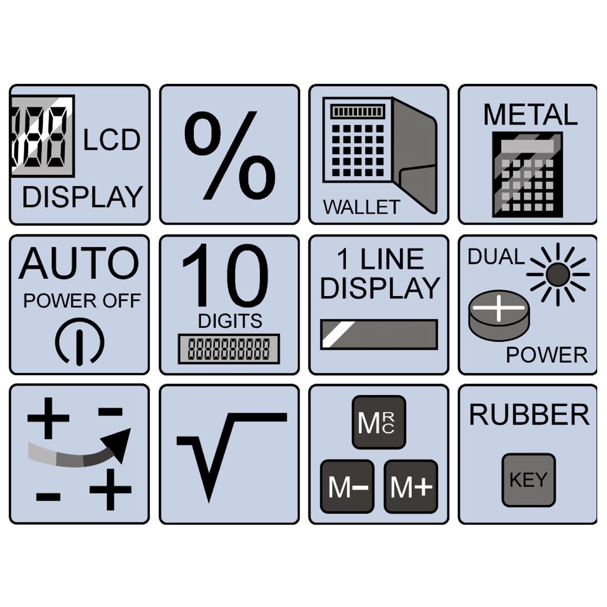 Olympia LCD 1110 - Tasche - Einfacher Taschenrechner - 10 Ziffern - 1 Zeilen - Rot