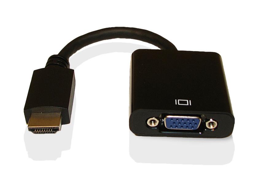 Fujitsu VGA Conversion Cable HDMI VGA Schwarz Kabelschnittstellen-/adapter