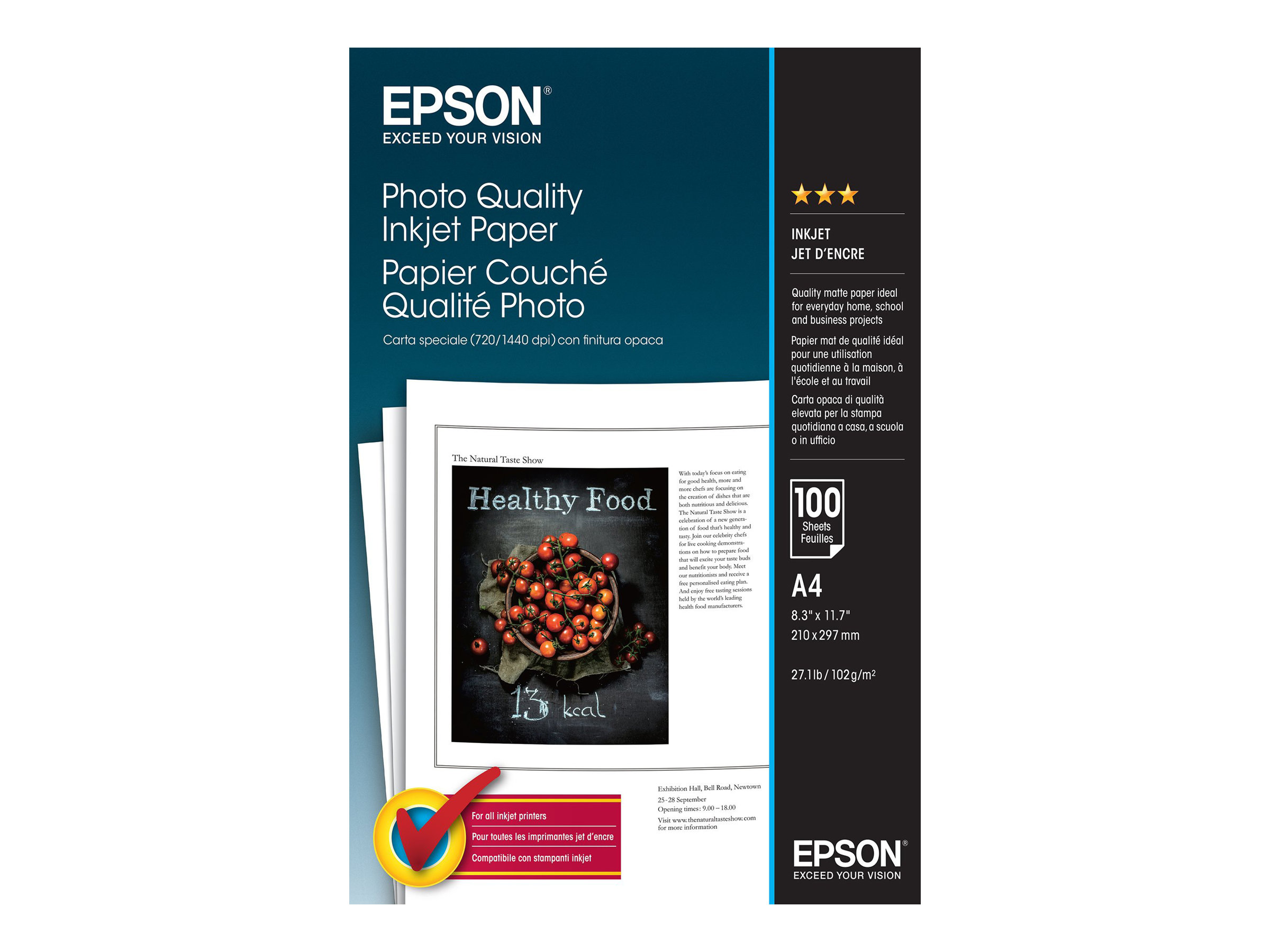 Epson Photo Quality Ink Jet Paper - Matt - beschichtet - Pure White - A4 (210 x 297 mm)
