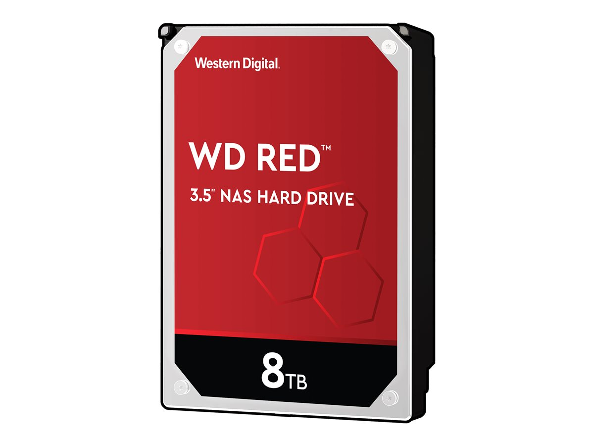 "WD Red Plus NAS Hard Drive WD80EFAX - Festplatte - 8 TB - intern - 3.5"" (8.9 cm)"