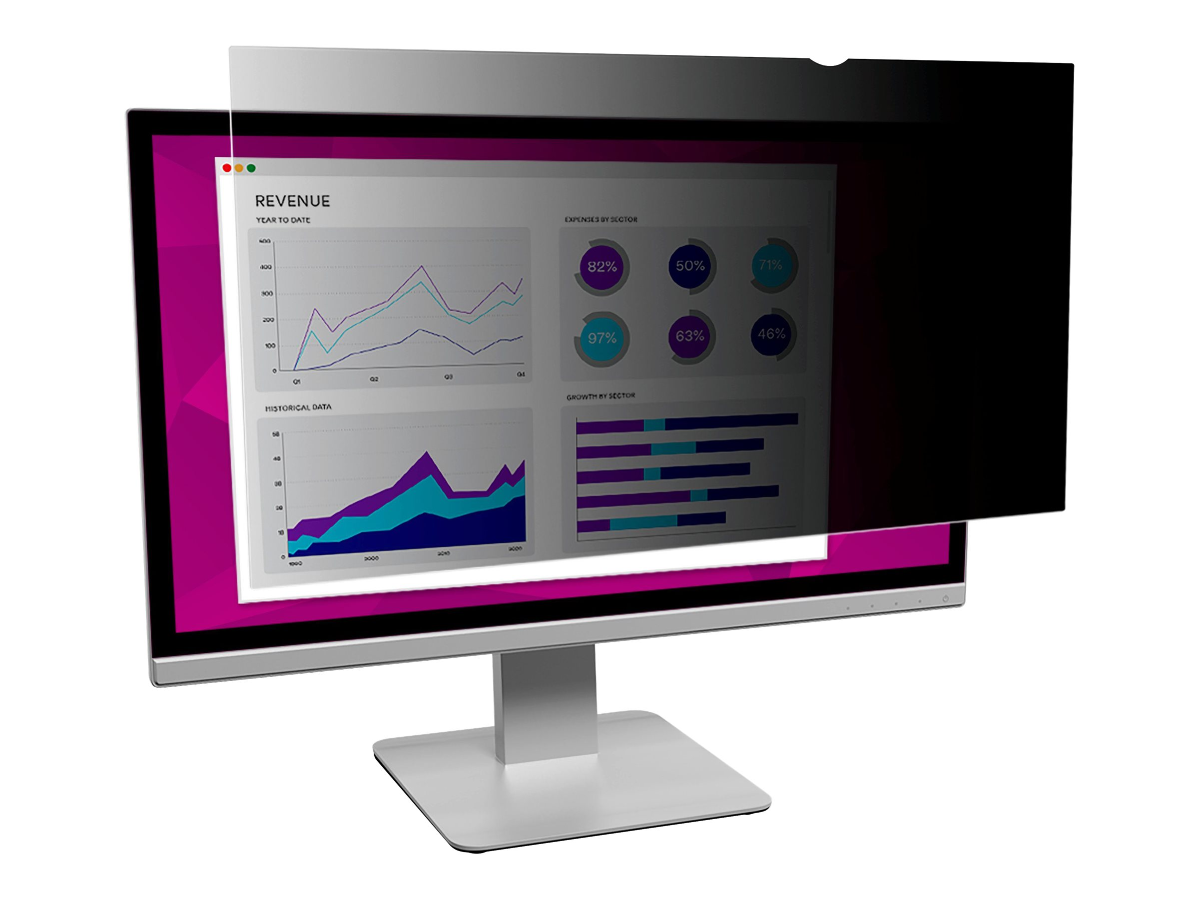 "3M Blickschutzfilter High Clarity für 27"" Breitbild-Monitor - Blickschutzfilter für Bildschirme - 68,6 cm Breitbild (27 Zoll Breitbild)"