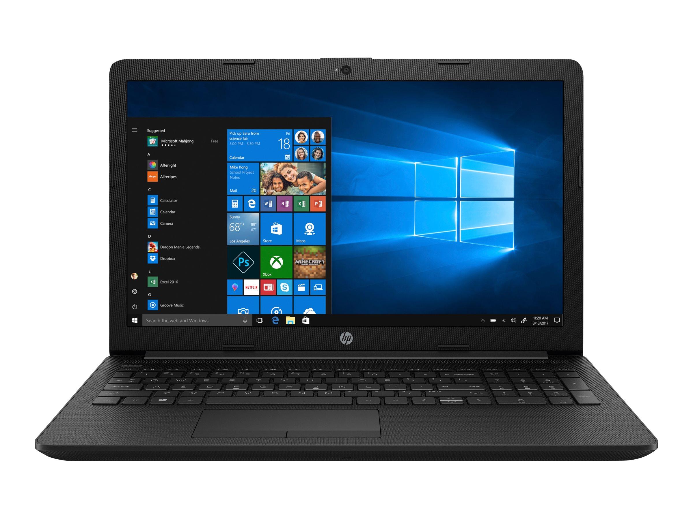 "HP 15-da0411ng - Celeron N4000 / 1.1 GHz - Win 10 Home 64-Bit - 4 GB RAM - 256 GB SSD - 39.6 cm (15.6"")"