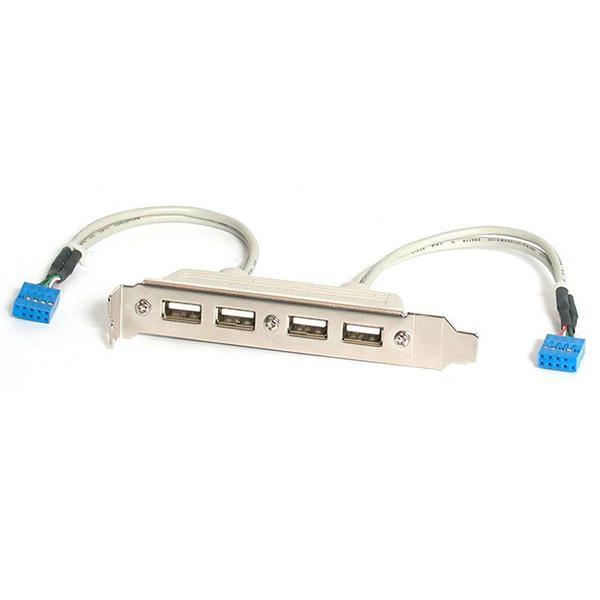 StarTech.com 4 Port USB 2.0 Slotblech Adapter
