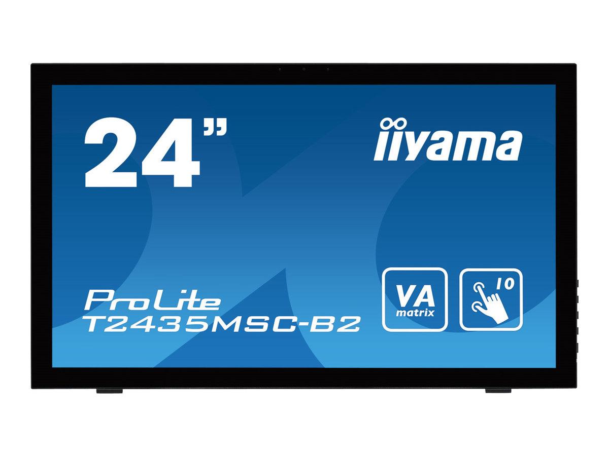 "Iiyama ProLite T2435MSC-B2 - LED-Monitor - 61 cm (24"") Full HD - Multi-Touch kapazitiv - VA - 250 cd/m² - 3000:1 - 6 ms - HDMI - DVI-D - DisplayPort"