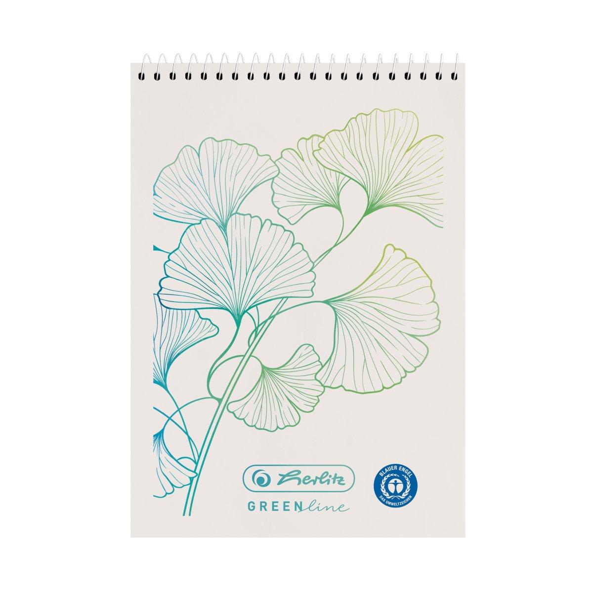 Herlitz GREENline - Muster - Weiß - A7 - 50 Blätter - Kariertes Papier - Erwachsener