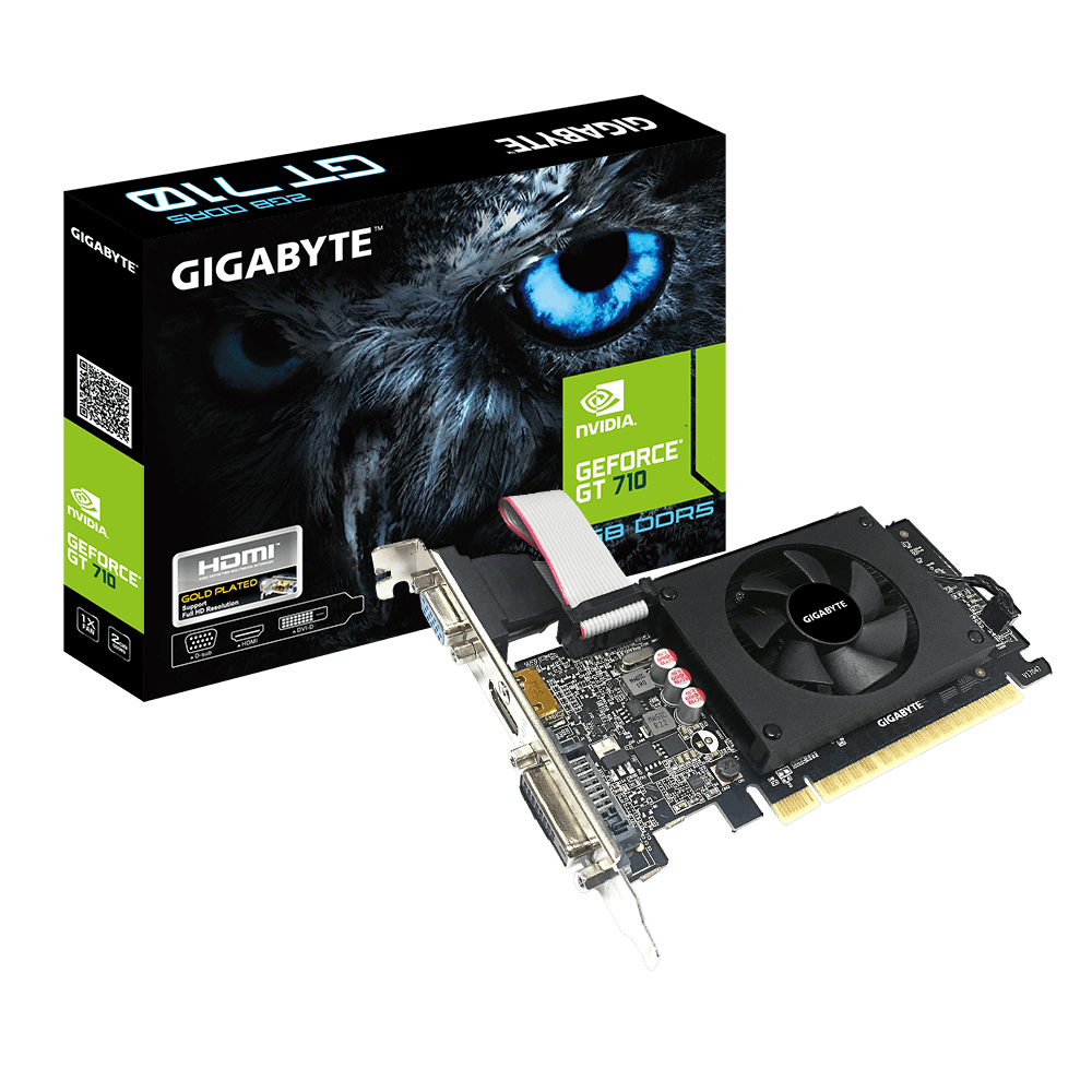 Gigabyte VGA GIGABYTE GEFORCE GT 710 2GB D5 2GIL LOW PROFILE