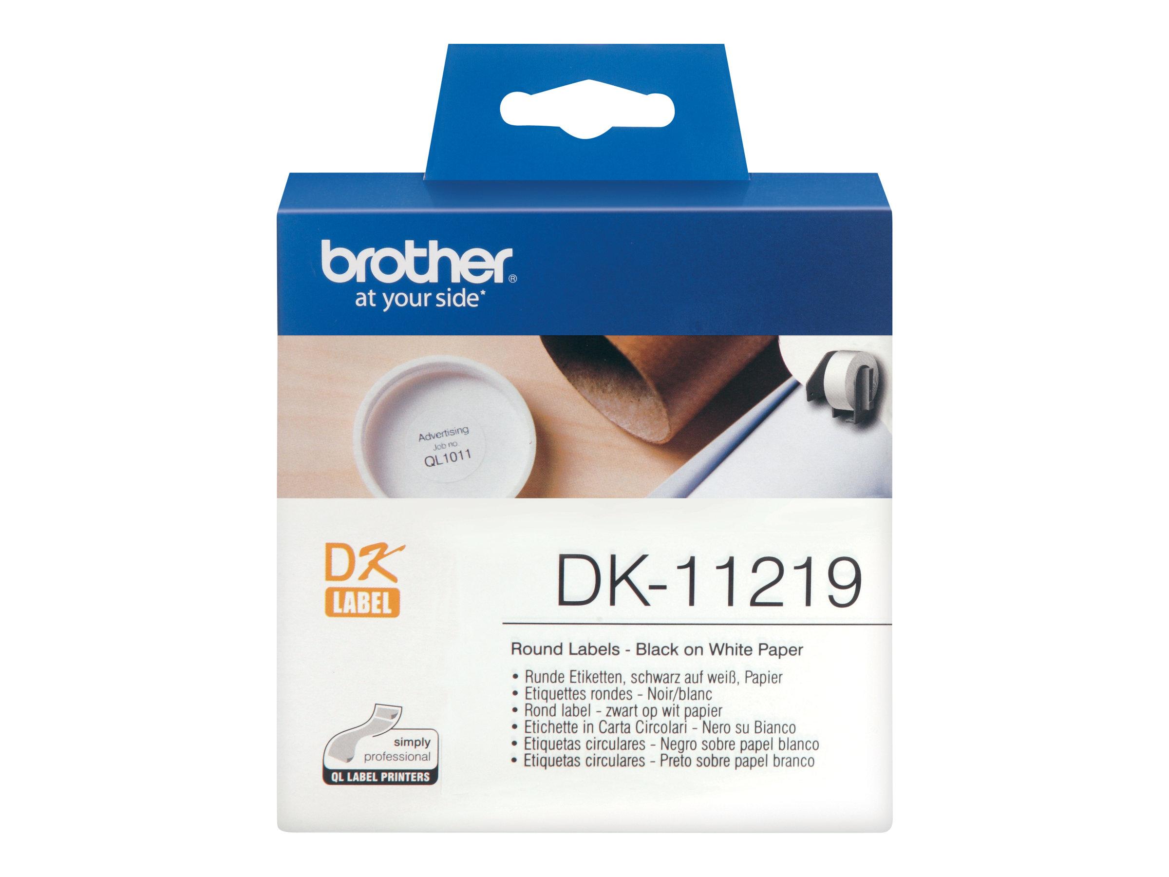 Brother DK-11219 - Schwarz auf Weiß - Rolle (1,2 cm)