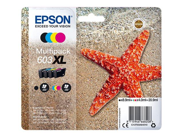 Epson Tinte Multipack 603XL black/cyan/magenta/yellow 8,9ml black/4ml cmy